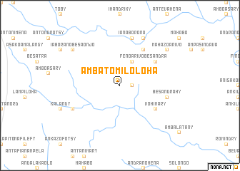 map of Ambatomiloloha