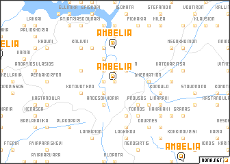 map of Ambélia