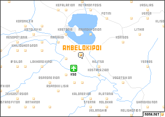 map of Ambelókipoi