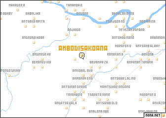 map of Ambodisakoana