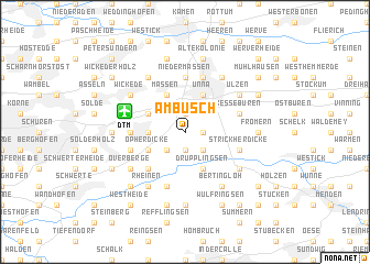 map of Am Busch