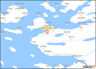 map of Amdal