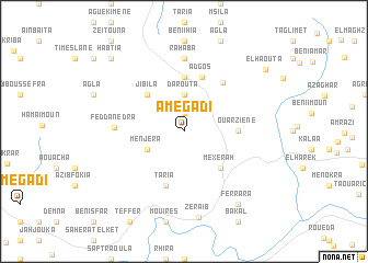 map of Amegadi