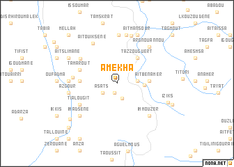 map of Amekha