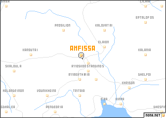 map of Ámfissa
