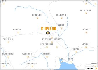 map of Ámfissa