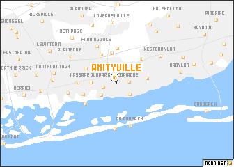 Amityville New York Map.Amityville United States Usa Map Nona Net