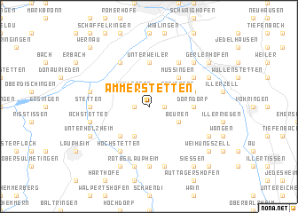map of Ammerstetten
