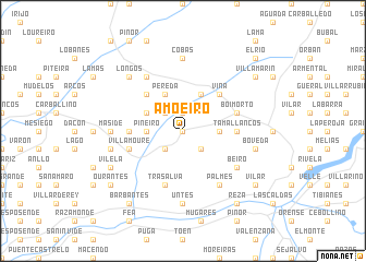 map of Amoeiro
