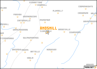 map of Amos Mill