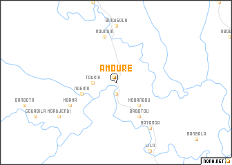 map of Amouré