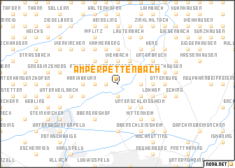 map of Amperpettenbach
