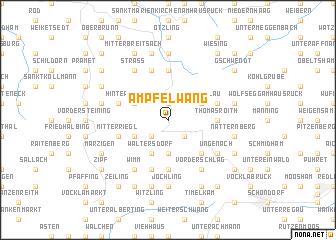 map of Ampfelwang