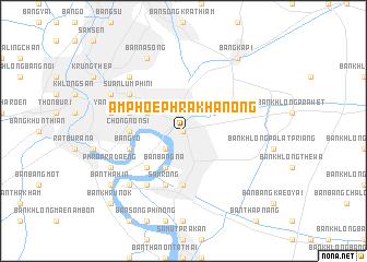 map of Amphoe Phra Khanong