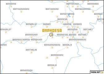 map of Amphoe Sa