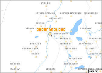 map of Ampondralava