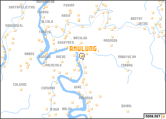 map of Amulung