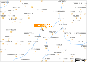 map of Amzaourou