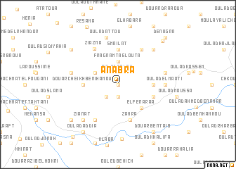 map of Anabra