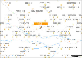 map of Anahuna