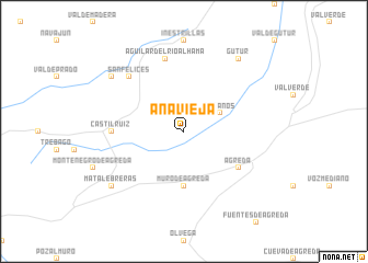 map of Añavieja