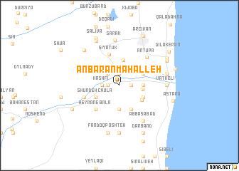 map of 'Anbarān Maḩalleh