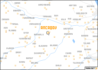 map of Əncǝqov