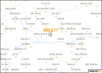 map of Ancuty