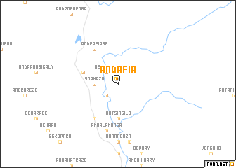map of Andafia