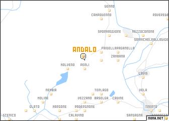 Andalo Italy map nonanet