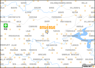 map of Andeade