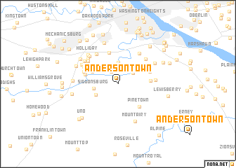 map of Andersontown
