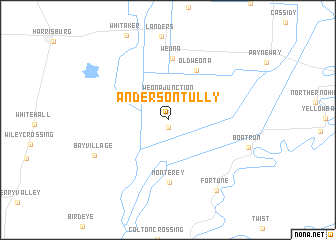 map of Anderson Tully