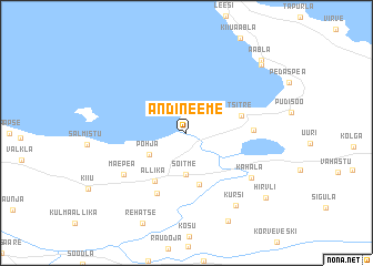 map of Andineeme