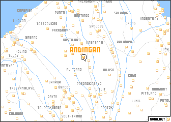 map of Andingan