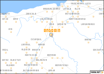map of Andoain