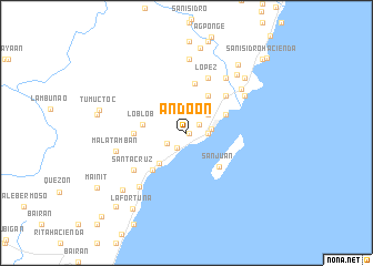 map of Andoon