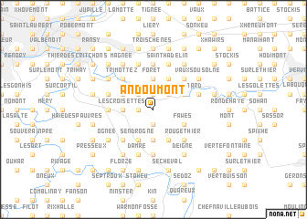 map of Andoumont
