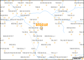 map of Andour