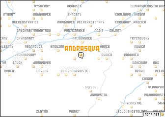 map of Andrašová