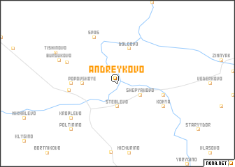 map of Andreykovo
