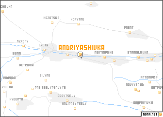 map of Andriyashivka