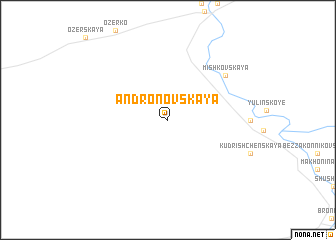 map of Andronovskaya
