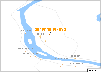 map of Andronovskaya