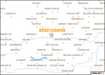 map of Andryushino