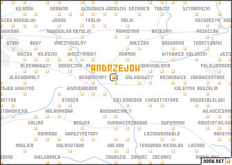 map of Andrzejów