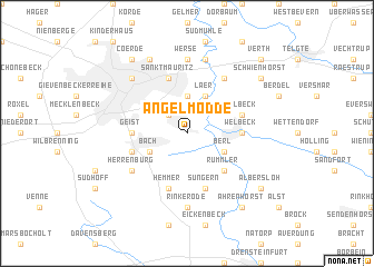 map of Angelmodde