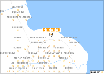 map of Angeneh