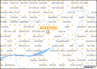 map of Angering