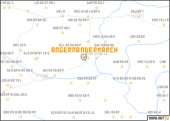 map of Angern an der March